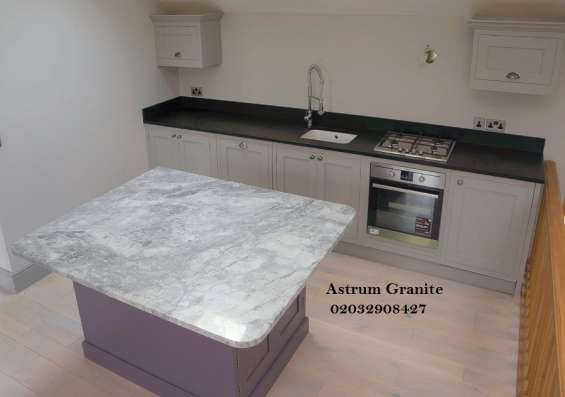Pictures of Bianco eclipse granite kitchen worktop at affordable in london 2