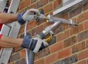 Foam cavity wall insulation