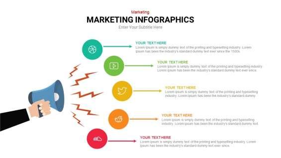 Digital marketing infographic template   slideheap