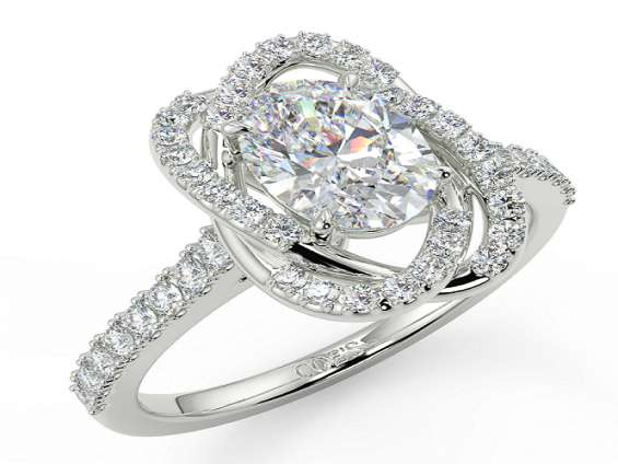 Shop acacia halo engagement ring with white gold