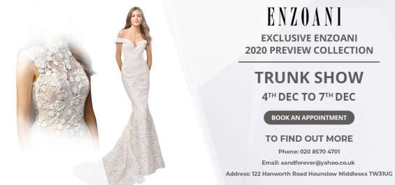 Calling all soon-to-be brides! check out exclusive enzoani collection @ trunk show