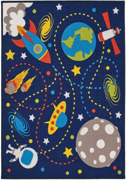 Children's playtime rug by oriental weavers in moon mission design