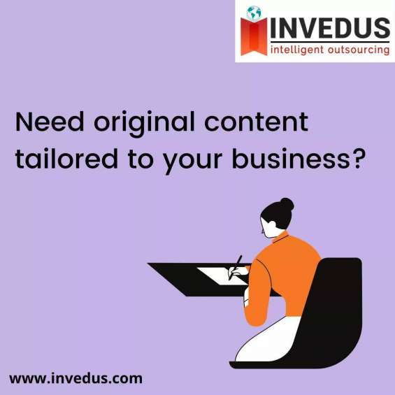 Hire creative remote content writers at invedus