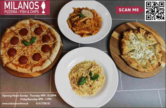 Fast food delivery near me   best fast food in uk   milanos pizza   fish and chips takeawa