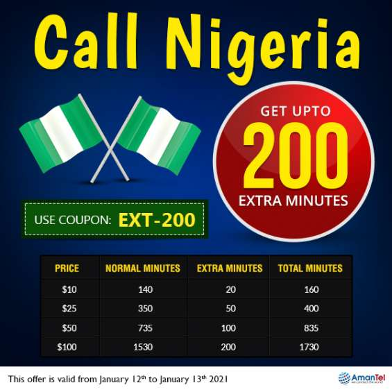 Make cheap international calls to nigeria from usa with amantel