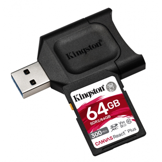 Kingston 64gb canvas react plus sd (sdxc) card - best micro sdxc cards